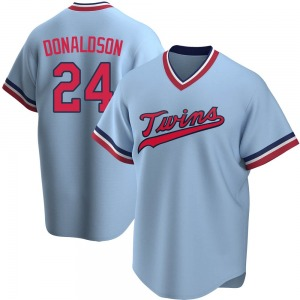 Men's Josh Donaldson Minnesota Twins Replica Light Blue Road Cooperstown Collection Jersey