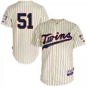 Youth Brusdar Graterol Minnesota Twins Replica Cream Cool Base Alternate Jersey by Majestic