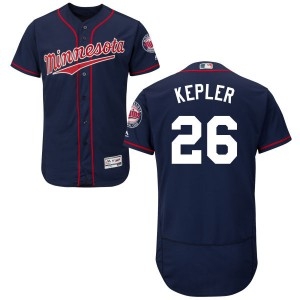 Men's Max Kepler Minnesota Twins Replica Navy Alternate Flex Base Collection Jersey by Majestic