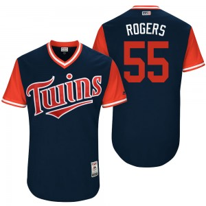 """Men's Taylor Rogers Minnesota Twins Authentic Navy """"Rogers"""" 2017 Players Weekend Jersey by"""