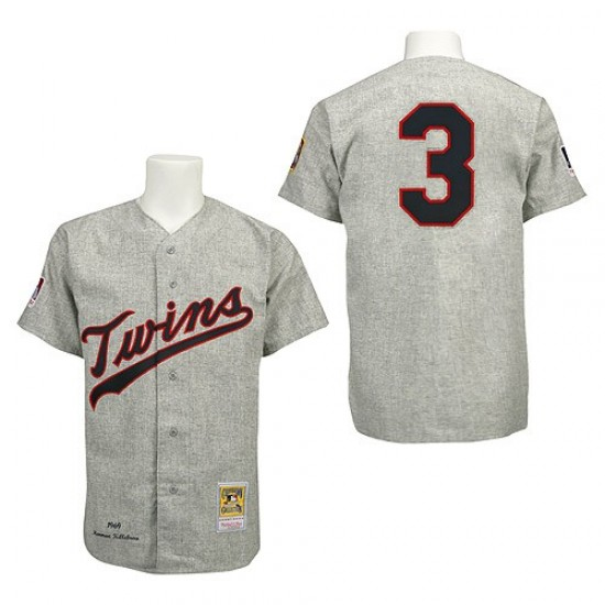 8a48896307f Men's Harmon Killebrew Minnesota Twins Replica Grey 1969 Throwback Jersey  by Mitchell and Ness